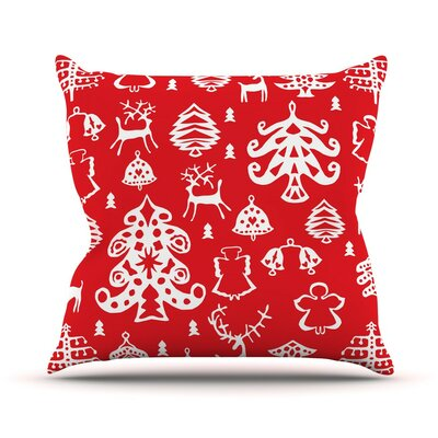 Warm Winter by Miranda Mol Throw Pillow Size: 26 H x 26 W x 5 D