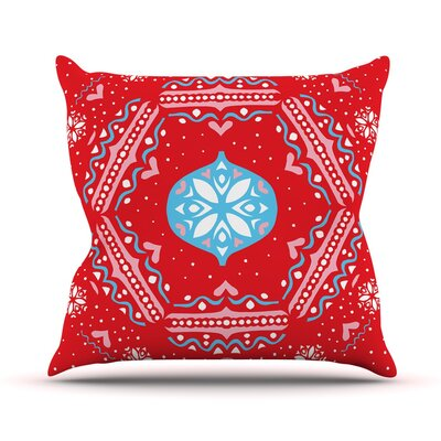 Snow Joy by Miranda Mol Throw Pillow Size: 16 H x 16 W x 3 D