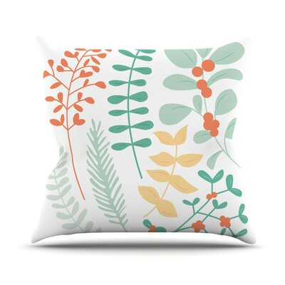 Deck the Hollies Throw Pillow Size: 16 H x 16 W x 3 D, Color: Orange