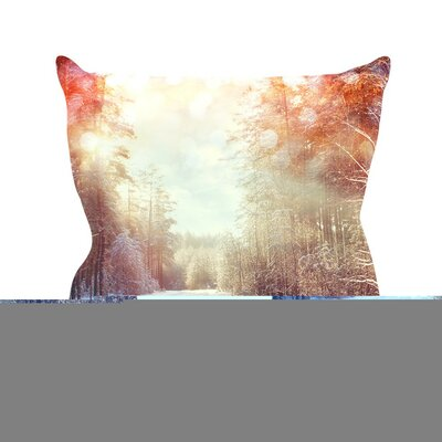 Winter Walkway by Snap Studio Snowy Throw Pillow Size: 26 H x 26 W x 5 D