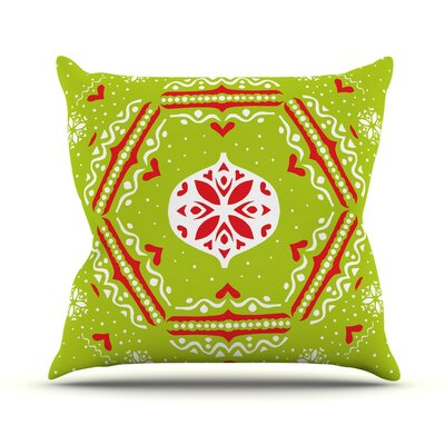 Snowjoy by Miranda Mol Throw Pillow Color: Green, Size: 18 H x 18 W x 3 D