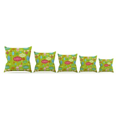 Ornate by Miranda Mol Ornaments Throw Pillow Size: 18 H x 18 W x 3 D, Color: Green