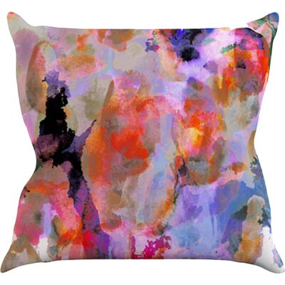 Painterly Blush Throw Pillow Size: 18 H x 18 W