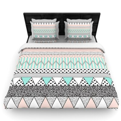 Chevron Motif by Vasare Nar Woven Duvet Cover Size: Queen