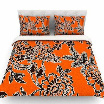 Blossom by Vikki Salmela Woven Duvet Cover Size: Twin