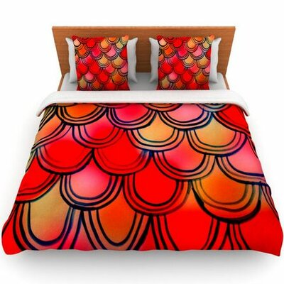 Dragon Tail by Theresa Giolzetti Woven Duvet Cover Size: Queen