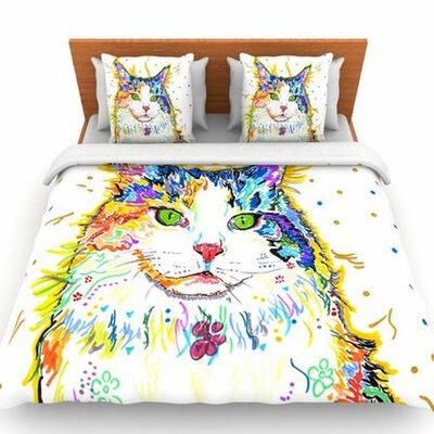 Royal by Rebecca Fischer Woven Duvet Cover Size: Queen
