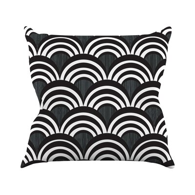 Art Deco Throw Pillow Size: 16 H x 16 W, Color: Black
