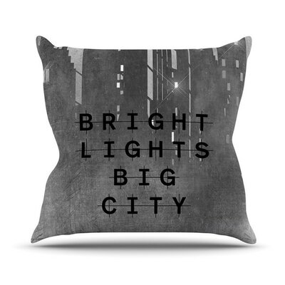 Bright Lights by Alison Coxon Dark City Throw Pillow Size: 18 H x 18 W x 1 D