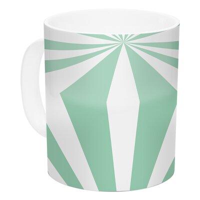 KESS InHouse Starburst Mint by Project M 11 oz. Ceramic Coffee Mug PM1014ACM01