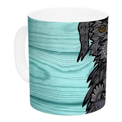 KESS InHouse Little Miss Daisy by Art Love Passion 11 oz. Blue Ceramic Coffee Mug AP1012ACM01