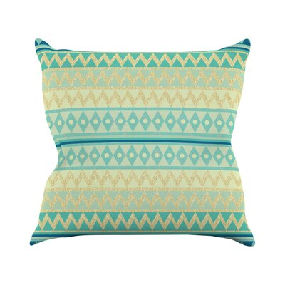 Glitter Chevron by Nika Martinez Throw Pillow Size: 18 H x 18 W x 3 D