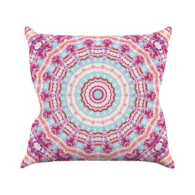 Happy by Iris Lehnhardt Throw Pillow Size: 16 H x 16 W x 3 D