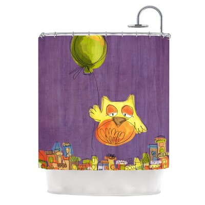 Owl Balloon by Carina Povarchik Shower Curtain