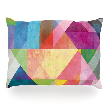 Color Blocking Rainbow Abstract Outdoor Throw Pillow Size: 14 H x 20 W x 3 D