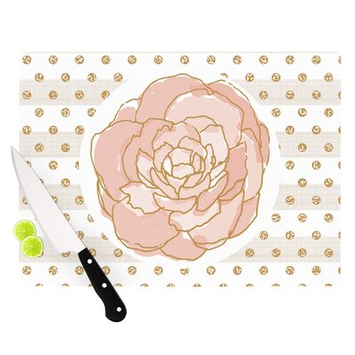Watercolor Peony by Pellerina Design Cutting Board Size: 11.5