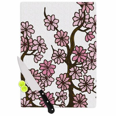 Cherry Blossoms by Art Love Passion Cutting Board Size: 11.5