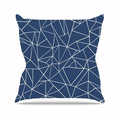 Abstraction Outline Throw Pillow Size: 18 H x 18 W