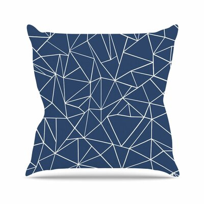 Abstraction Outline Throw Pillow Size: 26 H x 26 W