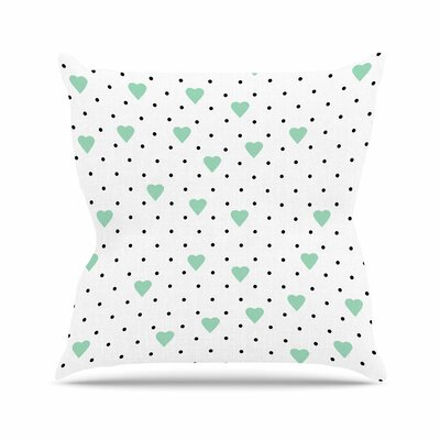 Pin Point Polka Dot Throw Pillow Size: 18 H x 18 W