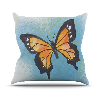 Summer Flutter Throw Pillow Size: 18'' H x 18'' W