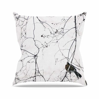 Vintage Bird At Dusk Throw Pillow Size: 26 H x 26 W