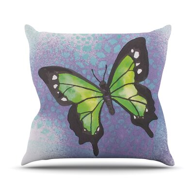 Flutter Throw Pillow Size: 18 H x 18 W, Color: Lime Green