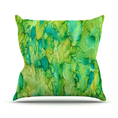 Going Green Throw Pillow Size: 18 H x 18 W