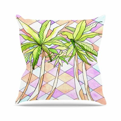 Geometric Tropic Throw Pillow Size: 18 H x 18 W