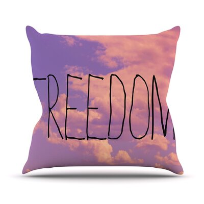 Freedom Throw Pillow Size: 26 H x 26 W