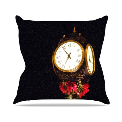 Xmas Clock Seasonal Throw Pillow Size: 18 H x 18 W