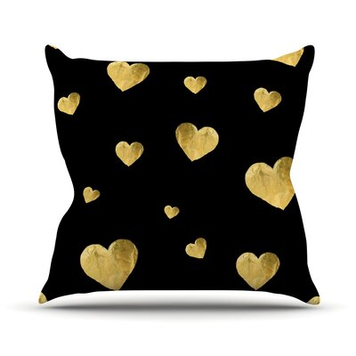 Floating Hearts Throw Pillow Size: 18 H x 18 W