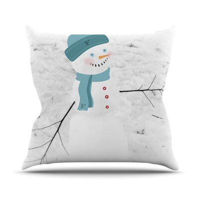 Frosty Throw Pillow Size: 18 H x 18 W
