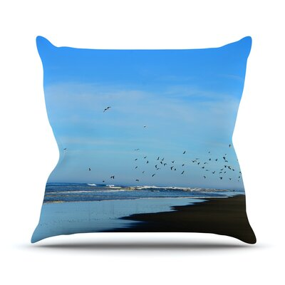 Beach Hair Throw Pillow Size: 18 H x 18 W