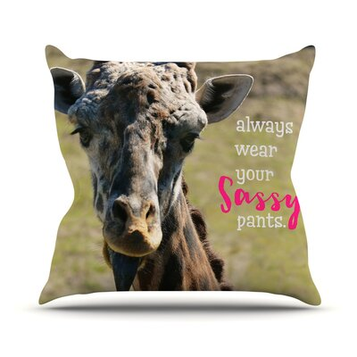 Sassy Pants Throw Pillow Size: 18 H x 18 W