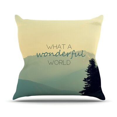 What a Wonderful World Throw Pillow Size: 26 H x 26 W