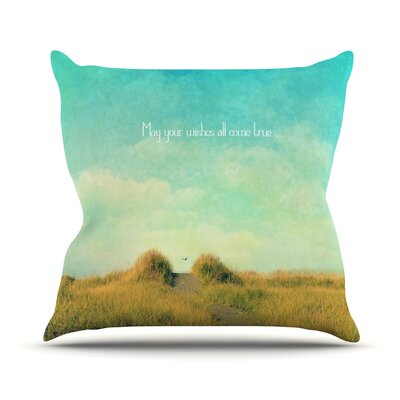 May Your Wishes Throw Pillow Size: 18 H x 18 W