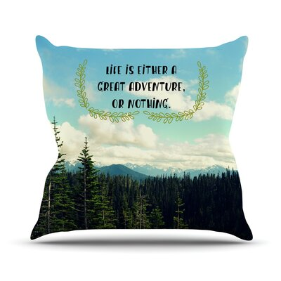 Life Is... Throw Pillow Size: 26 H x 26 W