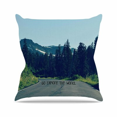 Go Explore The World Throw Pillow Size: 18 H x 18 W