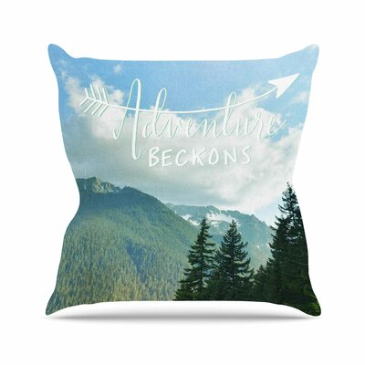 Adventure Beckons Throw Pillow Size: 26 H x 26 W
