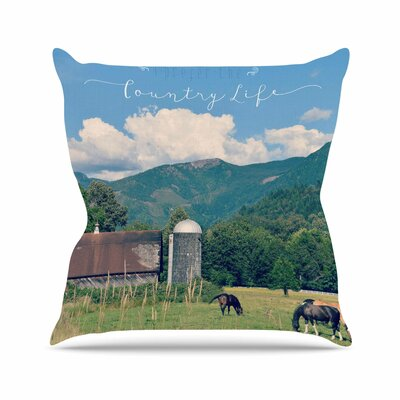 Country Life Throw Pillow Size: 18 H x 18 W