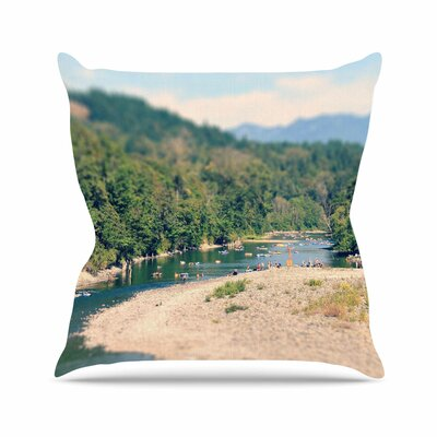 Summertime Float Throw Pillow Size: 16 H x 16 W