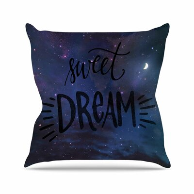 Sweet Dream Throw Pillow Size: 16 H x 16 W