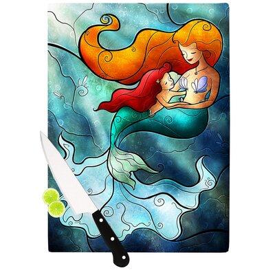 I Remember Love by Mandie Manzano Mermaid Cutting Board Size: 0.5