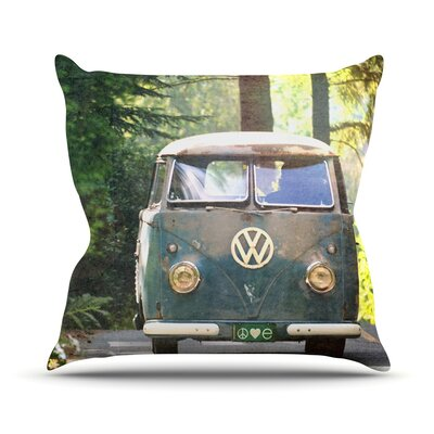 Peace Love Nature Throw Pillow Size: 26 H x 26 W
