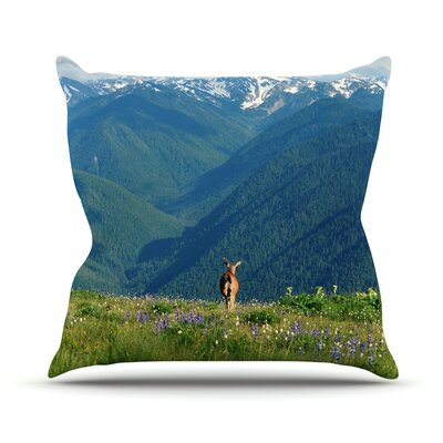 Natures Calling Throw Pillow Size: 18 H x 18 W