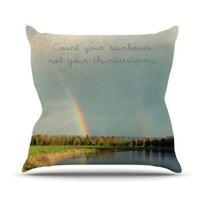 Count Rainbows Throw Pillow Size: 18 H x 18 W