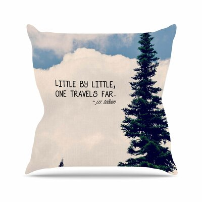 Little By Little Throw Pillow Size: 16