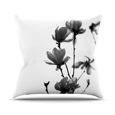 Mulan Magnolia Throw Pillow Size: 18 H x 18 W