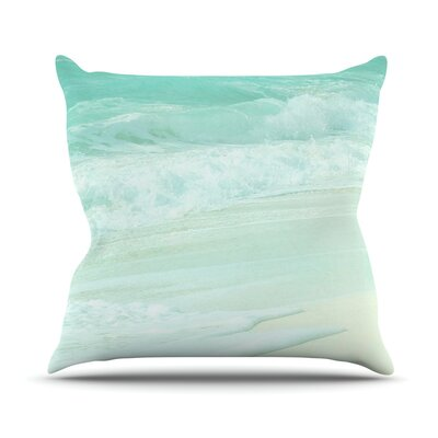 Paradise Beach Throw Pillow Size: 16 H x 16 W